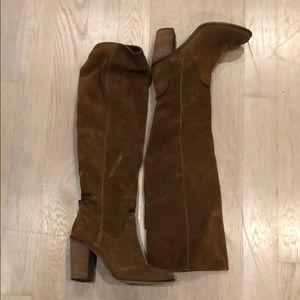 Dolce Vita Buckskin Suede OTK Boots